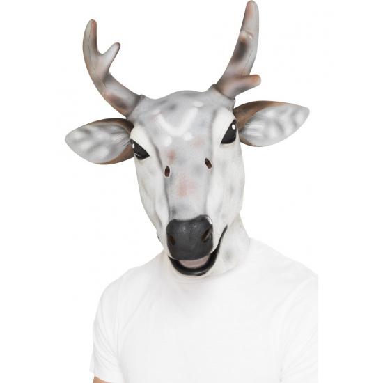 Luxe rendier masker voor volwassenen. dit rendier masker is gemaakt van latex.
