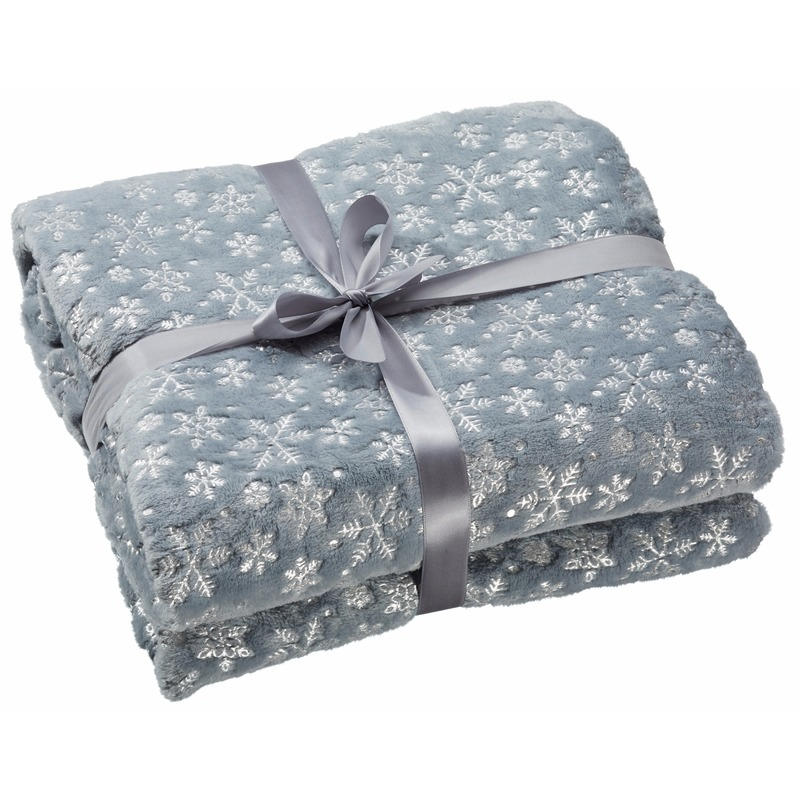 grijze fleece plaid
