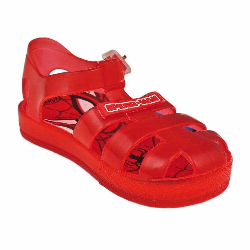 Spiderman waterschoenen voor kinderen. rode spiderman waterschoentjes voor kinderen in het klassieke sandaal ...