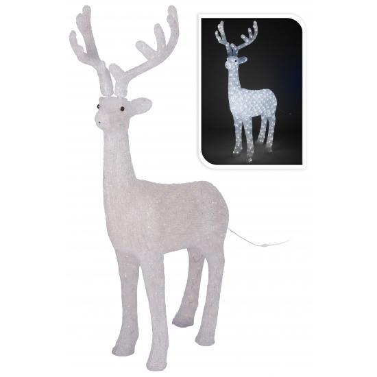 Kerst rendier met LED verlichting 130 cm - Verlichte staande figuren ...