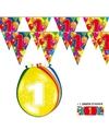 1 jaar feestartikelen set met vlaggenlijnen en ballonnen