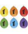 6 ballonnen voor 1e verjaardag