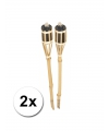 Bamboe fakkel set 2 stuks 61 cm