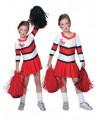 Cheerleader pakje rood met wit kostuum