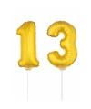 Gouden 13 jaar opblaasbaar ballon 41 cm