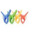 Grote plastic klemmen/ clips voor je strandlaken 4 stuks