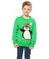 Kerst trui pinguin voor kinderen