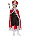 Rode konings verkleed mantel voor kinderen