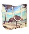 Strand reistas met tropische print type 1