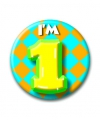 1 jaar verjaardag button