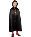 Halloween cape zwart voor kids
