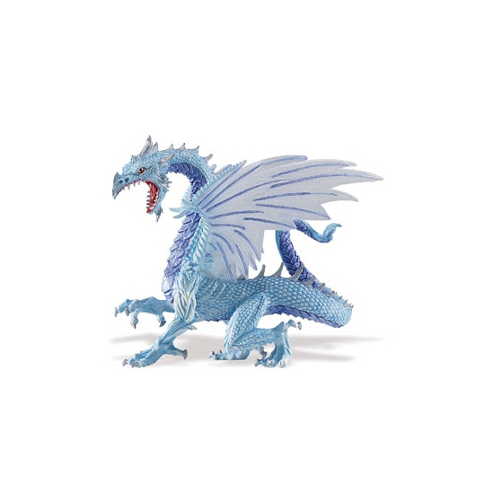 Blauwe draak van plastic 15 cm