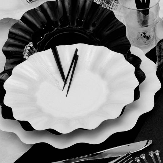 Diepe Diepe wegwerp borden 27 cm wit
