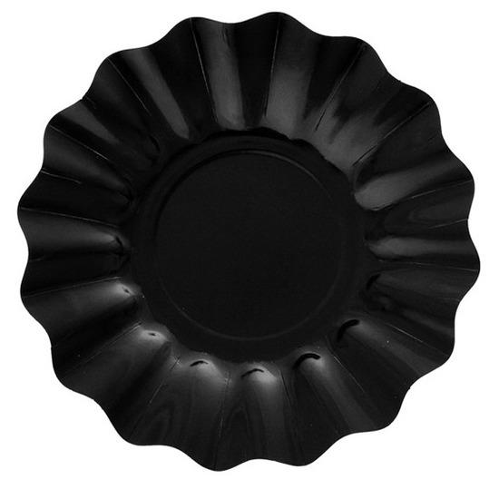 Diepe wegwerp borden 21 cm zwart