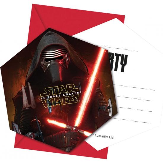 Feestartikelen Star Wars uitnodigingen