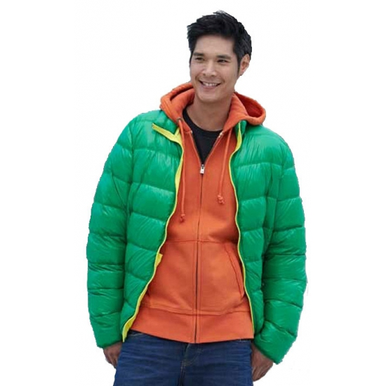 Sportieve Winterjas Heren.Sportieve Groene Winterjas Voor Heren Winterjassen Trendmax