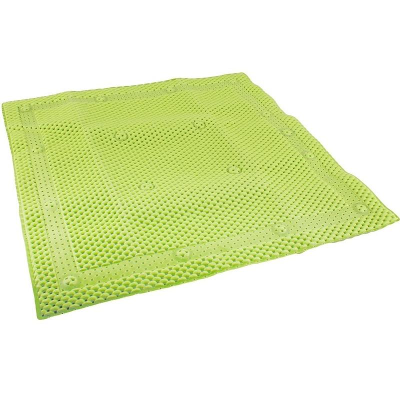 Groene antislip mat voor douchekabine 52 cm