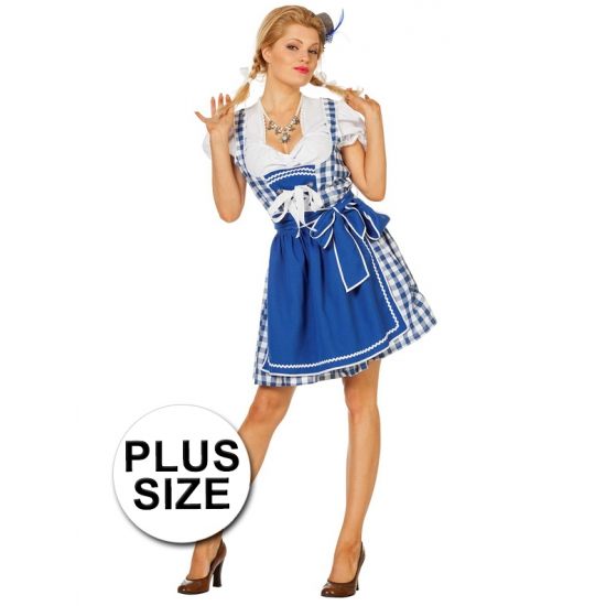 Carnavalskleding Grote Maten Dames.Grote Maten Carnavalskleding Jurk Blauw Dames Verkleedkleding