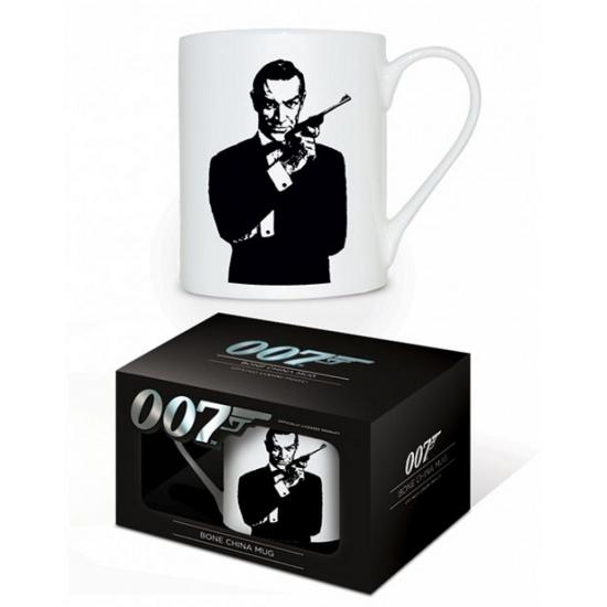 James Bond koffiebeker wit