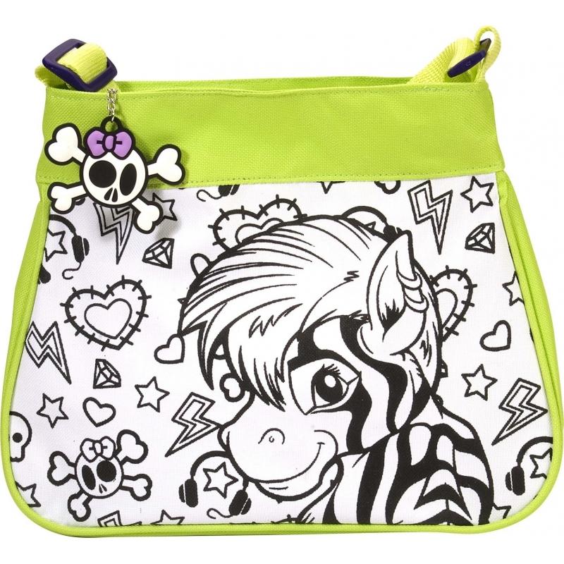 067b66d50cf Inkleurbare zebra tas voor kinderen. kinder schoudertas met zebra print om  in te kleuren!