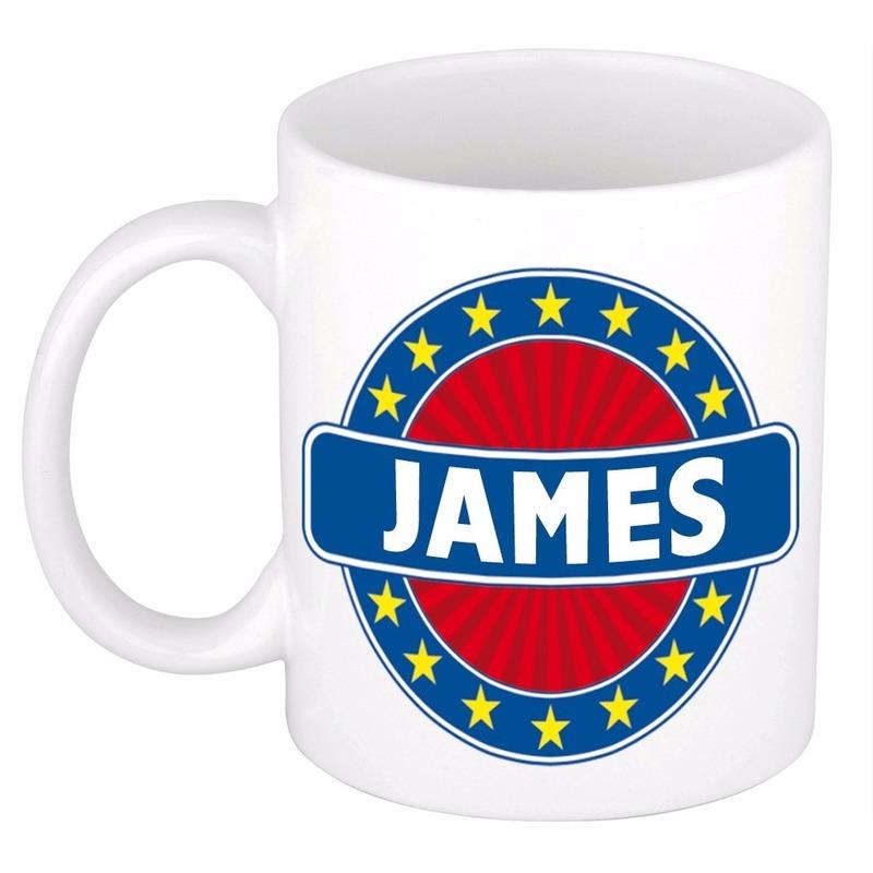 Mok met naam James 300 ml