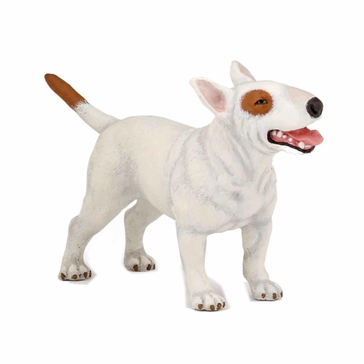 Speelgoed plastic Bull Terrier hondje