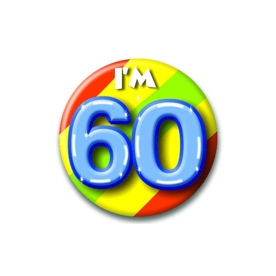 Wonderlijk 60 jaar verjaardag button - Gein & feest buttons - Trendmax warenhuis OX-55