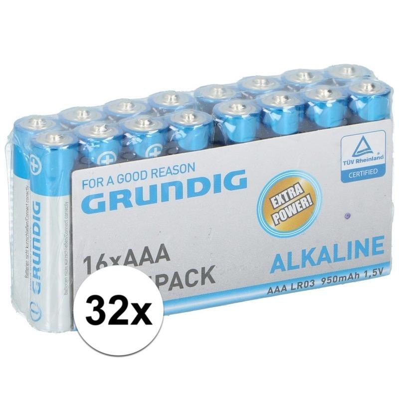 Voordeelpak AAA-batterijen Grundig 32x