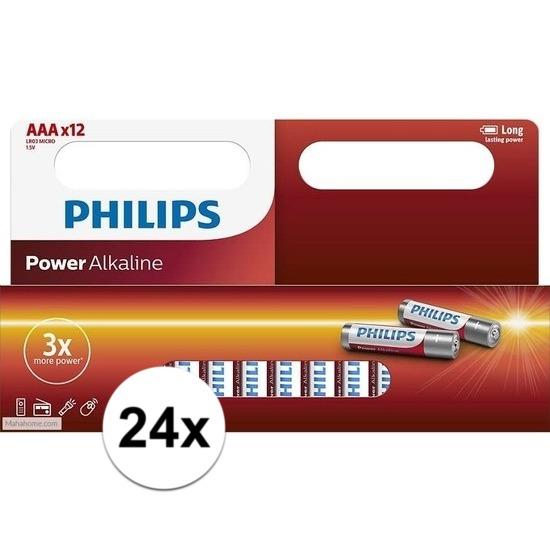 Voordeelpak AAA-batterijen Philips 24x