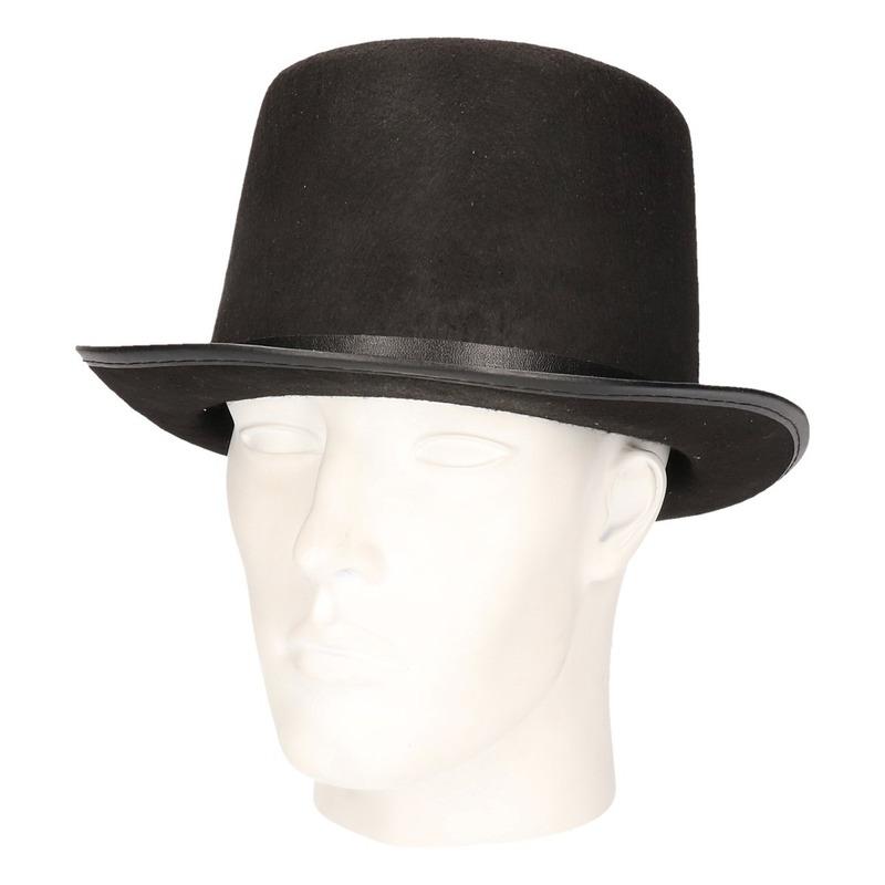Voordelige hoge hoed zwart voor volwassenen